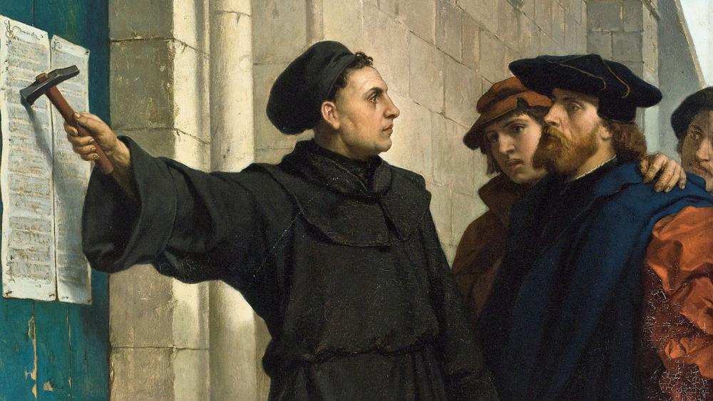 Gemälde vom Thesenanschlag 1517