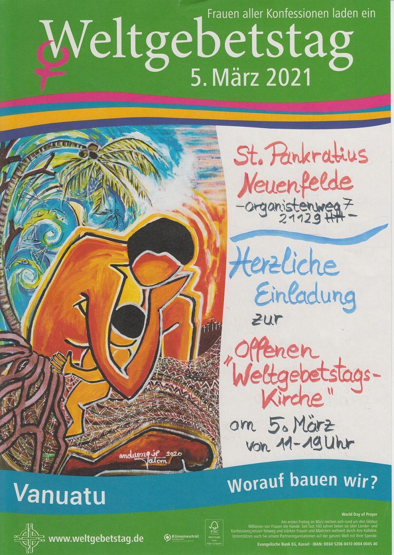 Plakat zum Weltgebetstag