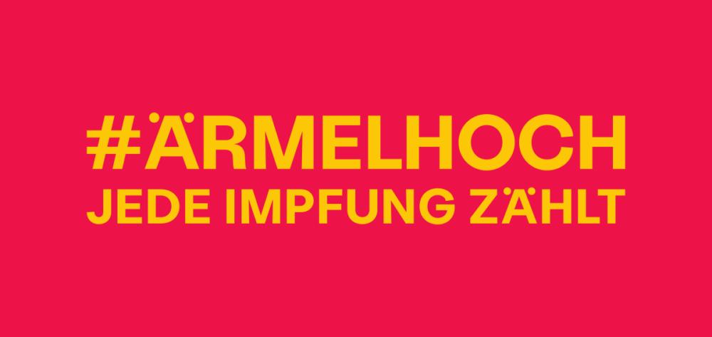 Claim-Grafik: #ärmelhoch