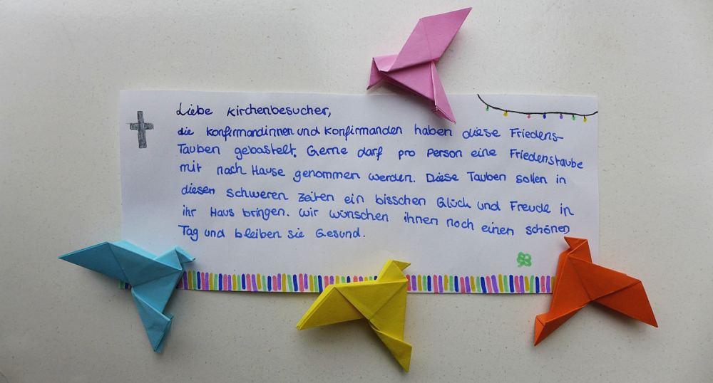 Origami-Tauben