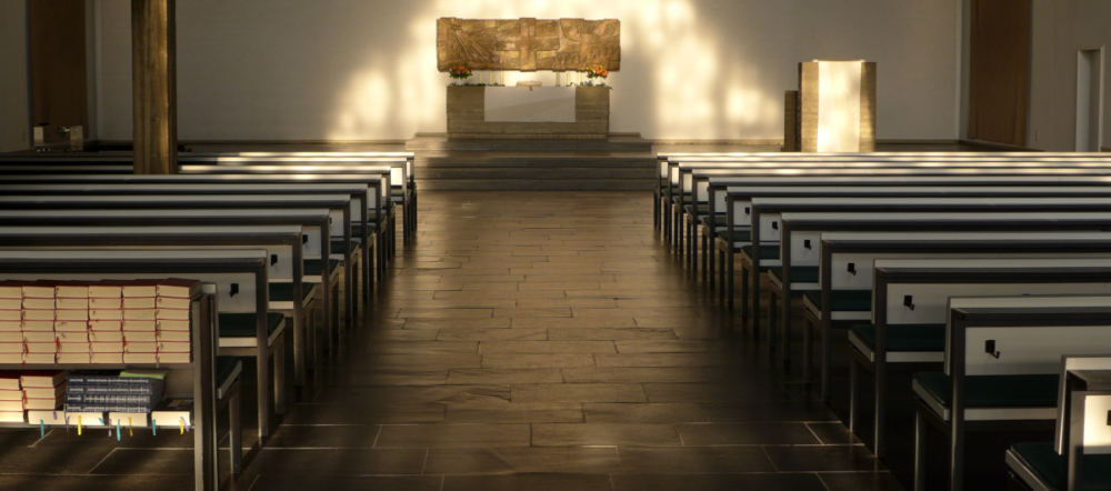 Blick in die leere Cornelius-Kirche
