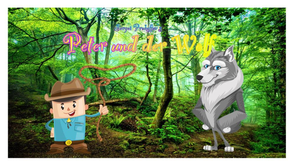Grafik Peter und der Wolf