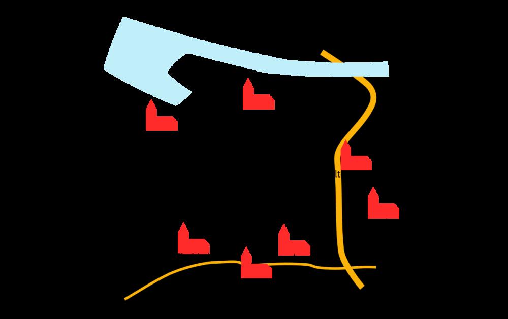 Landkarte Süderelbe Kirchengemeinden